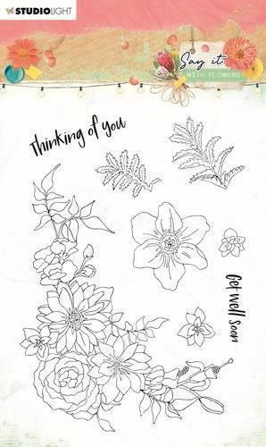 Studio Light Clear Stamp Say it with flowers nr.525 SL-SWF-STAMP525 A6 (03-21)