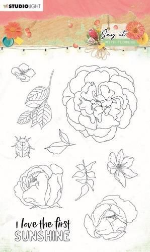Studio Light Clear Stamp Say it with flowers nr.527 SL-SWF-STAMP527 A6 (03-21)