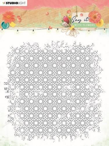 Studio Light Clear Stamp background Say it with flowers nr.528 SL-SWF-STAMP528 150x150mm (03-21)