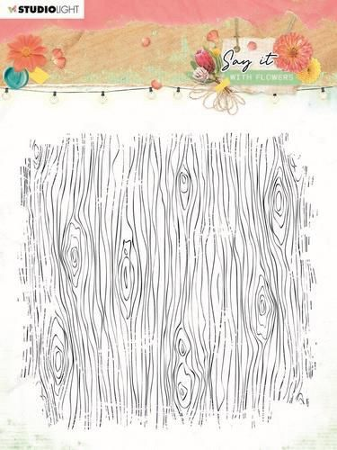 Studio Light Clear Stamp background Say it with flowers nr.529 SL-SWF-STAMP529 150x150mm (03-21)