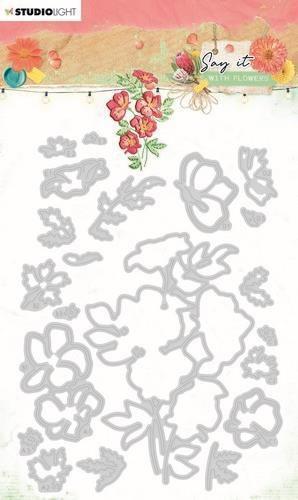 Studio Light Cutting & Emb. Die Say it with flowers nr.403 SL-SWF-CD403 105x143mm (03-21)