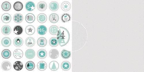 Dini Design Scrappapier 10 vl Adventskalender - Zigzag (DE) 30,5x30,5cm #4014 (10-20)