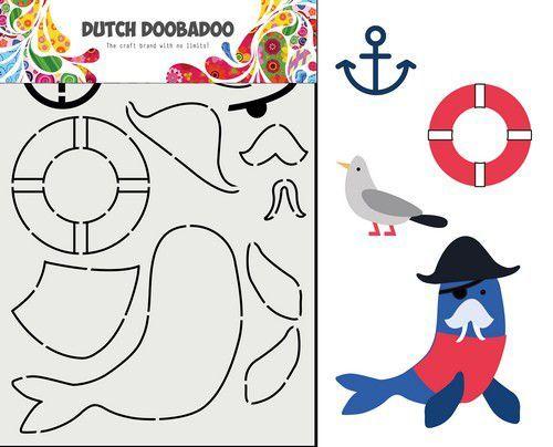 Dutch Doobadoo Card Art Built up Zeeleeuw 470.713.849 (02-21)