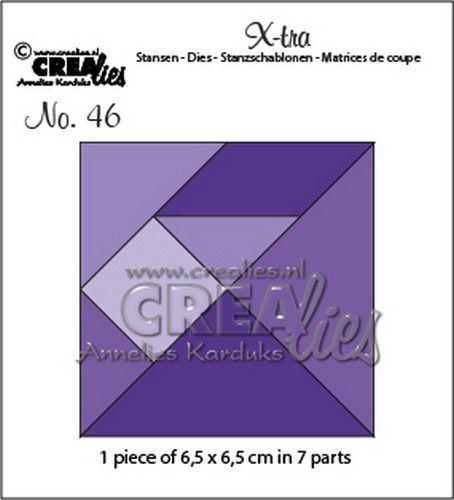 Crealies Xtra Tangram CLXtra46 6,5x6,5cm (02-21)