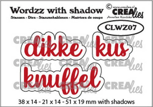 Crealies Wordzz with Shadow Dikke kus (NL) CLWZ07 51x19mm (02-21)