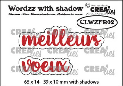 Crealies Wordzz with Shadow meilleurs voeux (FR) CLWZFR02 39x10mm (02-21)