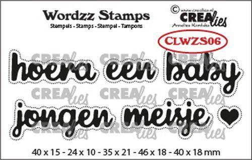 Crealies Clearstamp Wordzz Hoera een baby (NL) CLWZS06 46x18mm (02-21)