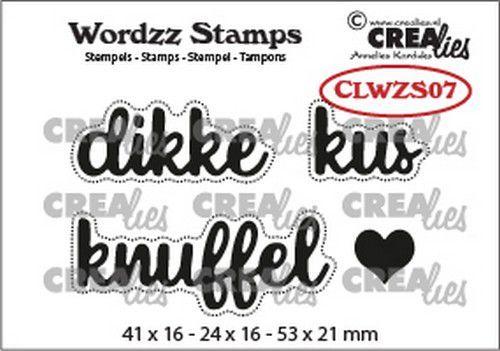 Crealies Clearstamp Wordzz Dikke kus (NL) CLWZS07 53x21mm (02-21)