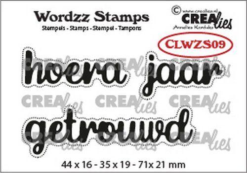 Crealies Clearstamp Wordzz Hoera getrouwd (NL) CLWZS09 71x21mm (02-21)