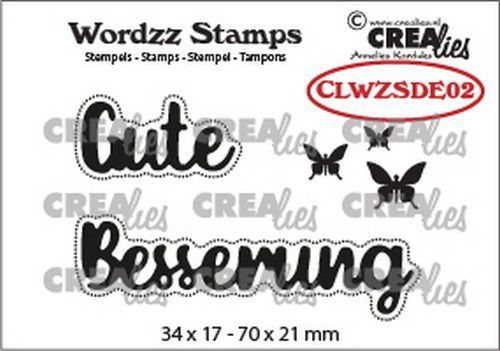 Crealies Clearstamp Wordzz Gute Besserung (DE) CLWZSDE02 70x21mm (02-21)