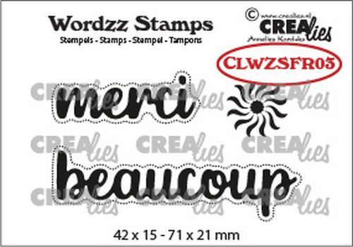 Crealies Clearstamp Wordzz merci beaucoup (FR) CLWZSFR03 71x21mm (02-21)