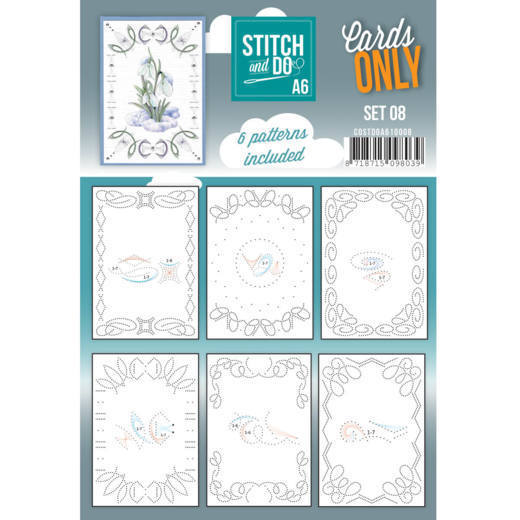 Cards Only Stitch A6 - 008