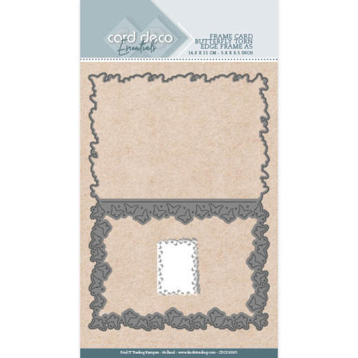 Card Deco Essentials - Cutting Dies - Butterfly Torn Edge Frame A5