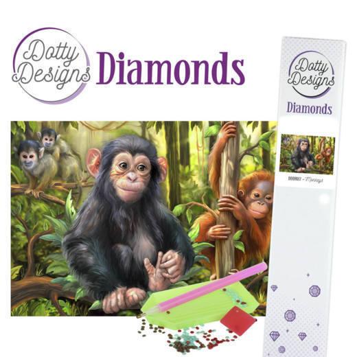 Dotty Designs Diamonds - Monkeys