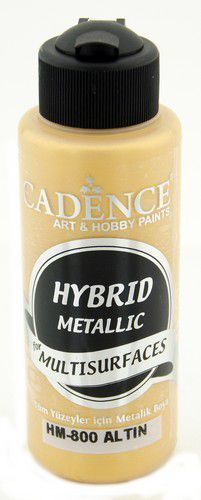 Cadence Hybride metallic acrylverf (semi mat) Goud 01 008 0800 0120 120 ml (03-21)