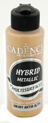 Cadence Hybride metallic acrylverf (semi mat) Antiek goud 01 008 0801 0120 120 ml (03-21)