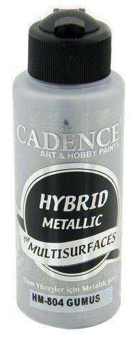 Cadence Hybride metallic acrylverf (semi mat) Zilver 01 008 0804 0120 120 ml (03-21)