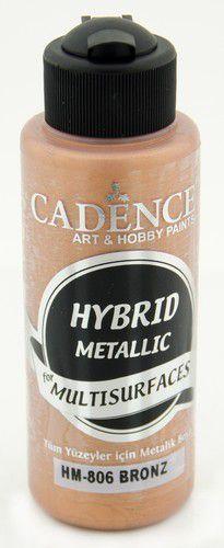 Cadence Hybride metallic acrylverf (semi mat) Brons 01 008 0806 0120 120 ml (03-21)
