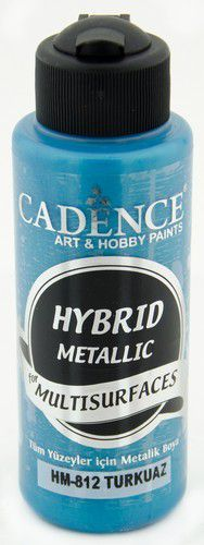 Cadence Hybride metallic acrylverf (semi mat) Turkoois 01 008 0812 0120 120 ml (03-21)