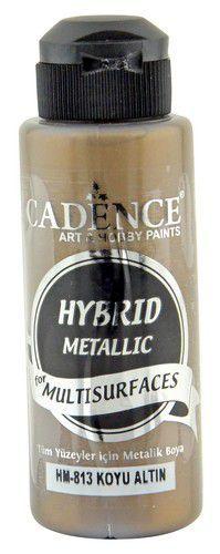 Cadence Hybride metallic acrylverf (semi mat) Antiek goud 01 008 0813 0120 120 ml (03-21)