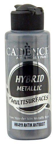 Cadence Hybride metallic acrylverf (semi mat) Antiek antraciet 01 008 0819 0120 120 ml (03-21)