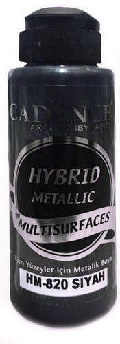 Cadence Hybride metallic acrylverf (semi mat) Zwart 01 008 0820 0120 120 ml (03-21)
