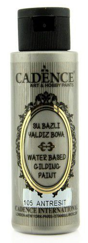 Cadence Gilding Metallic acrylverf Antraciet zilver 01 035 0105 0070 70 ml (03-21)