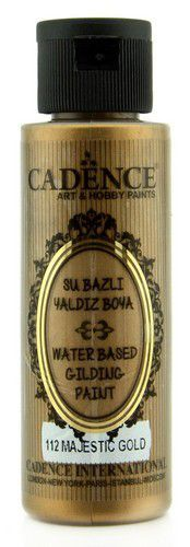 Cadence Gilding Metallic acrylverf Majestueus goud 01 035 0112 0070 70 ml (03-21)