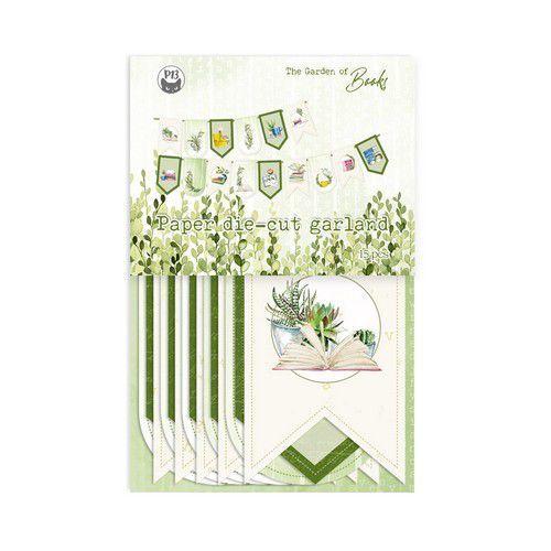 Piatek13 - Paper die cut garland Garden of Books P13-GAR-32 (02-21)