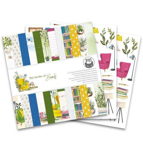 Piatek13 - Paper pad Garden of Books, 12x12'' P13-GAR-08 (02-21)