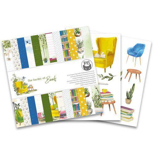 Piatek13 - Paper pad Garden of Books, 6x6'' P13-GAR-09 (02-21)