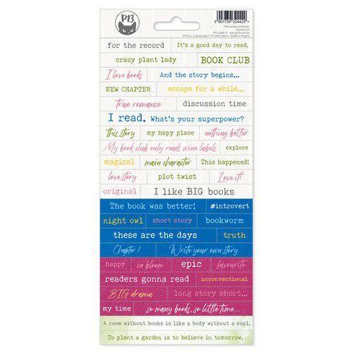 Piatek13 - Sticker sheet Garden of Books 01 P13-GAR-11 10,5x23cm (02-21)