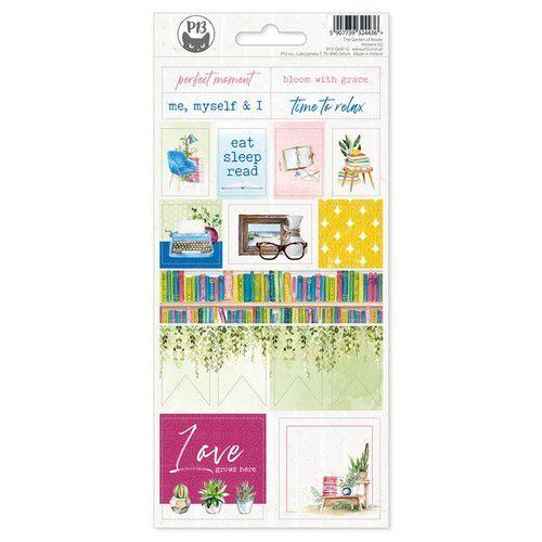 Piatek13 - Sticker sheet Garden of Books 02 P13-GAR-12 10,5x23cm (02-21)