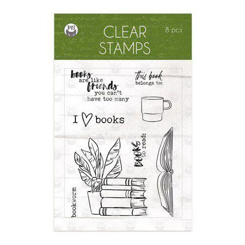 Piatek13 - Clear stamp set Garden of Books 01 P13-GAR-30 (02-21)