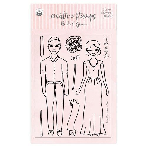 Piatek13 - Clear stamp set Bride and Groom P13-CST-05 A6 (02-21)