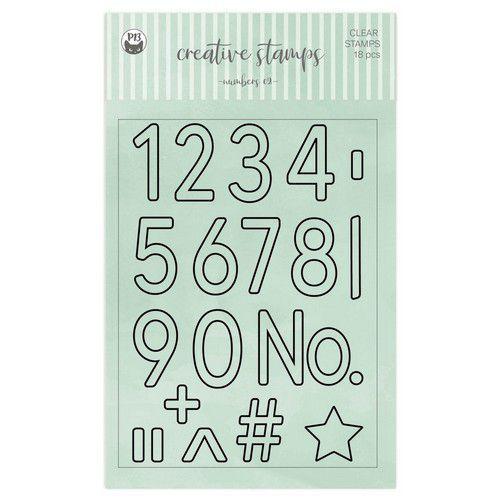 Piatek13 - Clear stamp set Numbers 02 P13-CST-09 A6 (02-21)