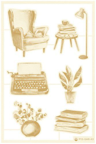 Piatek13 - Chipboard embellishments Garden of Books 01 P13-GAR-43 (02-21)