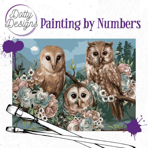 Dotty Designs Painting by Numbers - Romantic Owls