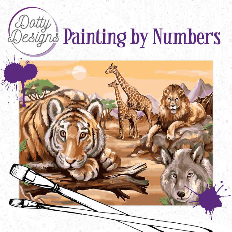 Dotty Designs Painting by Numbers - Safari 2