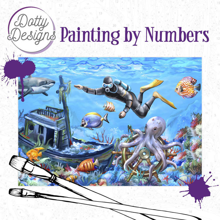 Dotty Designs Painting by Numbers - Diving