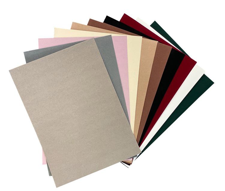 Fluweel Papier zelfklevend 10 vellen A4 Natuur/Donkere kleuren