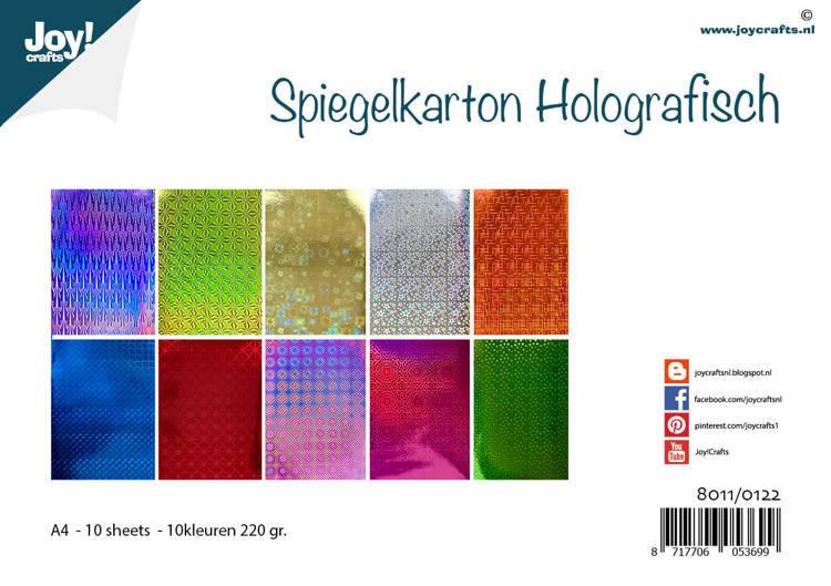Spiegelkarton Holografisch - 10 design-10 kleuren