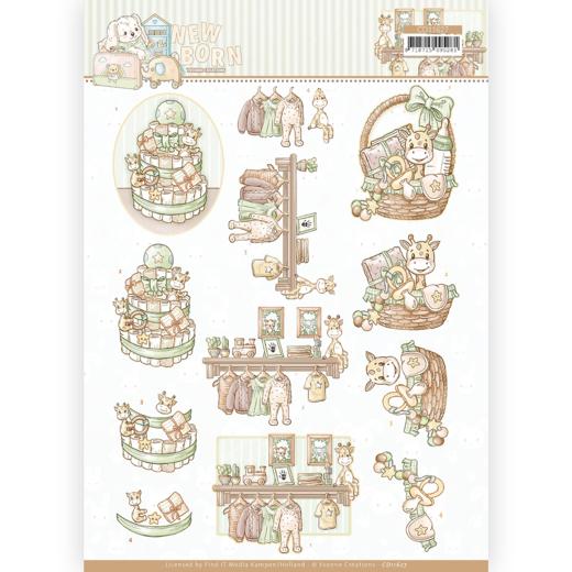 3D cutting sheet - Yvonne Creations - Newborn - Baby Basket