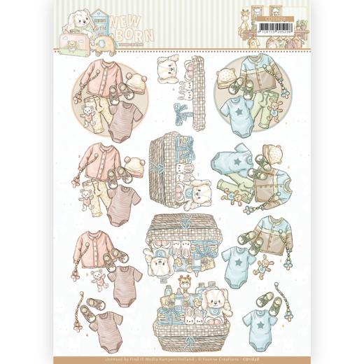 3D cutting sheet - Yvonne Creations - Newborn - Baby Clothes