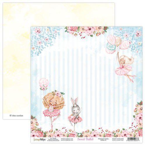 ScrapBoys Sweet Ballet paper sheet DZ SWBA-01 190gr 30,5x30,5cm (02-21)