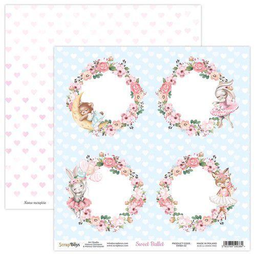 ScrapBoys Sweet Ballet paper sheet DZ SWBA-02 190gr 30,5x30,5cm (02-21)