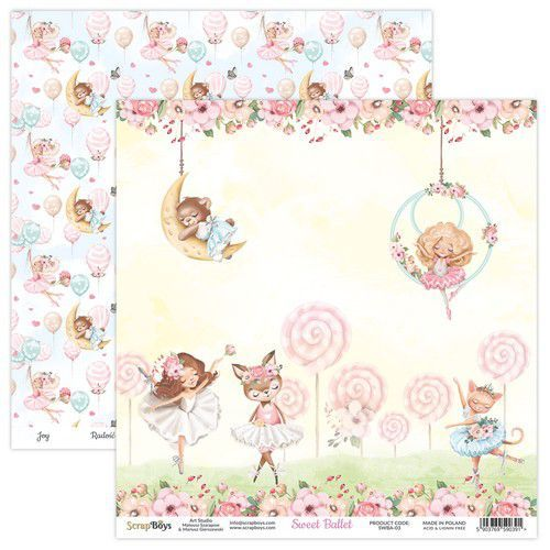 ScrapBoys Sweet Ballet paper sheet DZ SWBA-03 190gr 30,5x30,5cm (02-21)