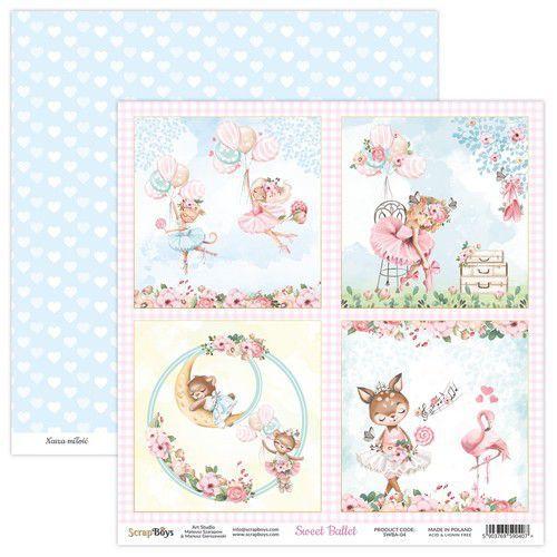 ScrapBoys Sweet Ballet paper sheet DZ SWBA-04 190gr 30,5x30,5cm (02-21)