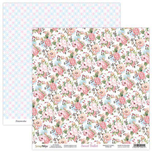 ScrapBoys Sweet Ballet paper sheet DZ SWBA-05 190gr 30,5x30,5cm (02-21)