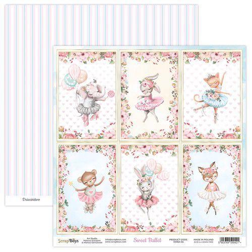 ScrapBoys Sweet Ballet paper sheet DZ SWBA-06 190gr 30,5x30,5cm (02-21)